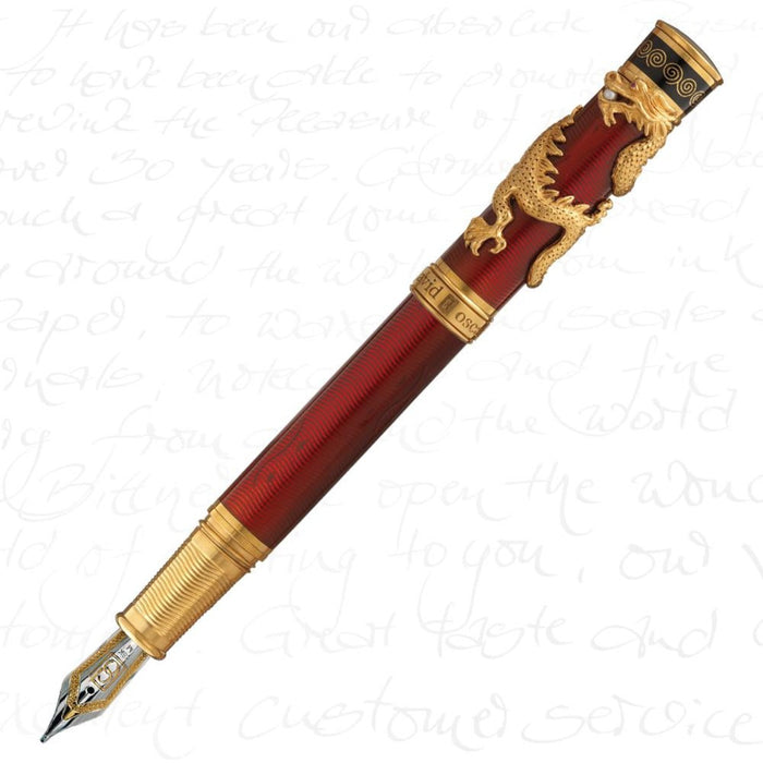 David Oscarson Black Water Dragon Ruby Red Pen