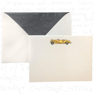 Bittner Engraved Cards - Gold Car w/ Black Envelopes (6ct)