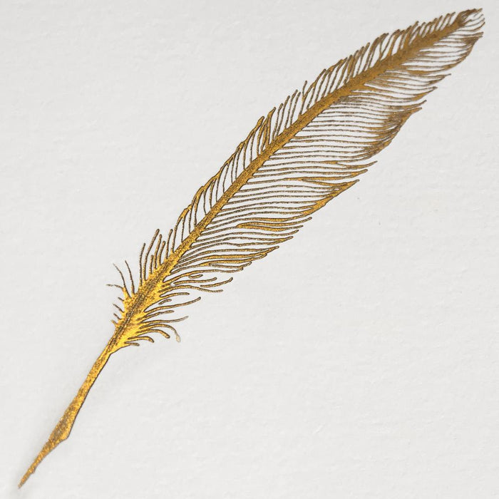 Bittner Engraved Cards - Gold Feather w/ Red Envelopes (6ct)