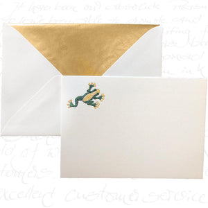 Bittner Engraved Cards - Frog w/ Gold Envelopes (6ct)