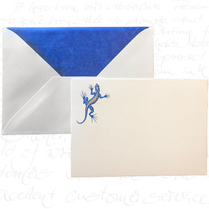 Bittner Engraved Cards - Gecko w/ Royal Blue Envelopes (6ct)