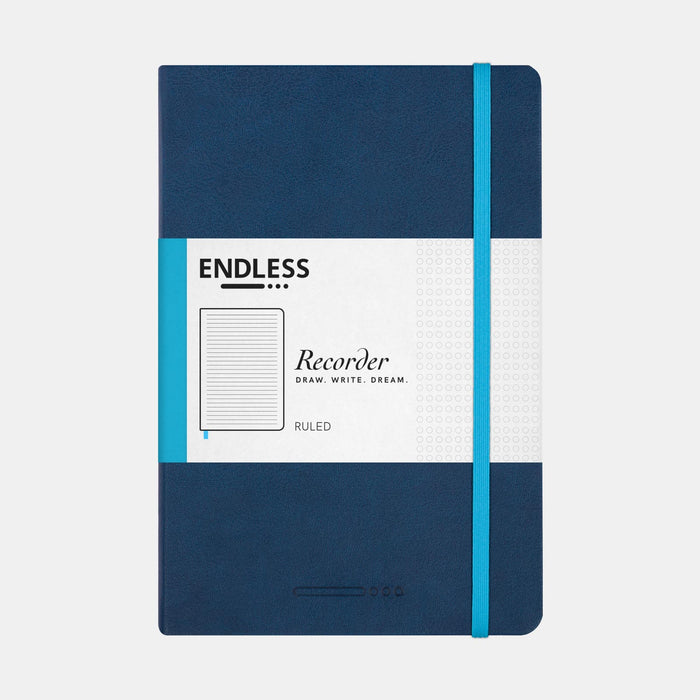 Endless Recorder A5 Notebook  –  Deep Ocean