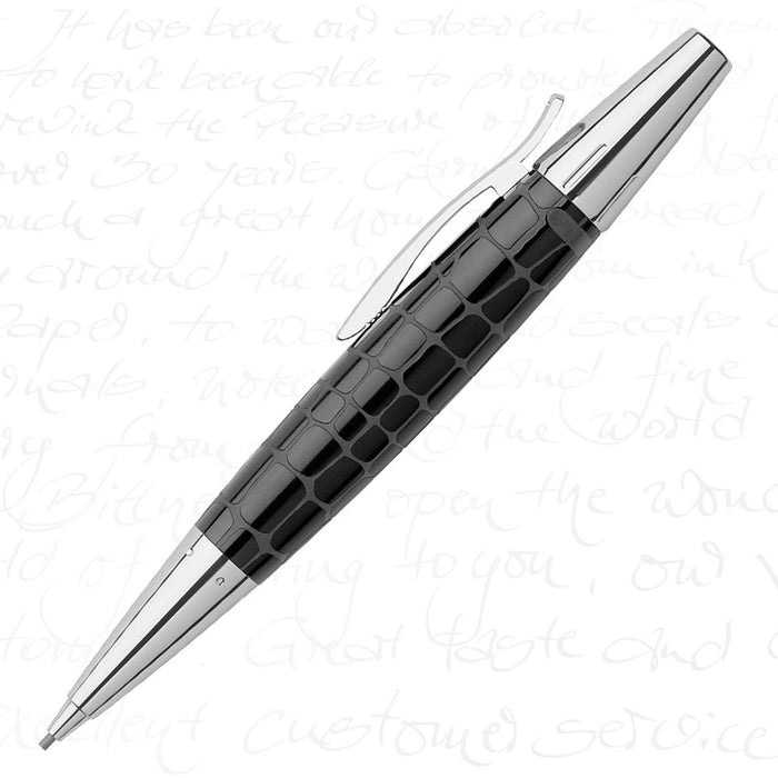 Faber-Castell E-Motion Precious Resin I - Crocodile Black Mechanical Pencil