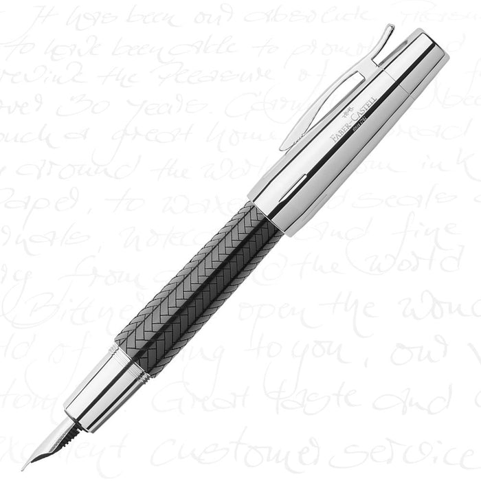 Faber-Castell E-Motion Precious Resin II - Parquet Black Fountain Pen