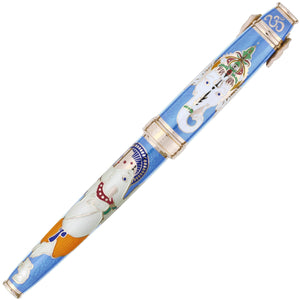 David Oscarson Lord Ganesha Fountain Pen - Azure