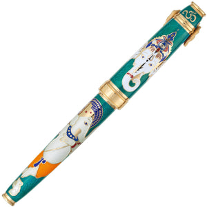 David Oscarson Lord Ganesha Fountain Pen - Teal