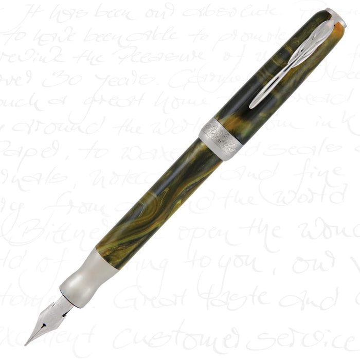Pineider La Grande Bellezza Gemstones Fountain Pen - Tiger's Yellow