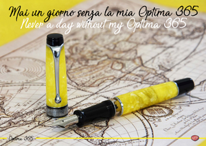 Aurora Optima 365 Fountain Pen - Gialla
