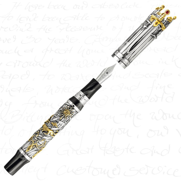 Montegrappa Limited Edition Games Of Thrones Silver Fountain Pen