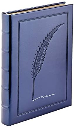 Graphic Image Vegan Leather Quill Embossed Journal