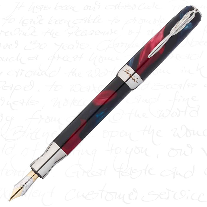 Pineider La Grande Bellezza Sunset Red Fountain Pen 18k Gold Nib