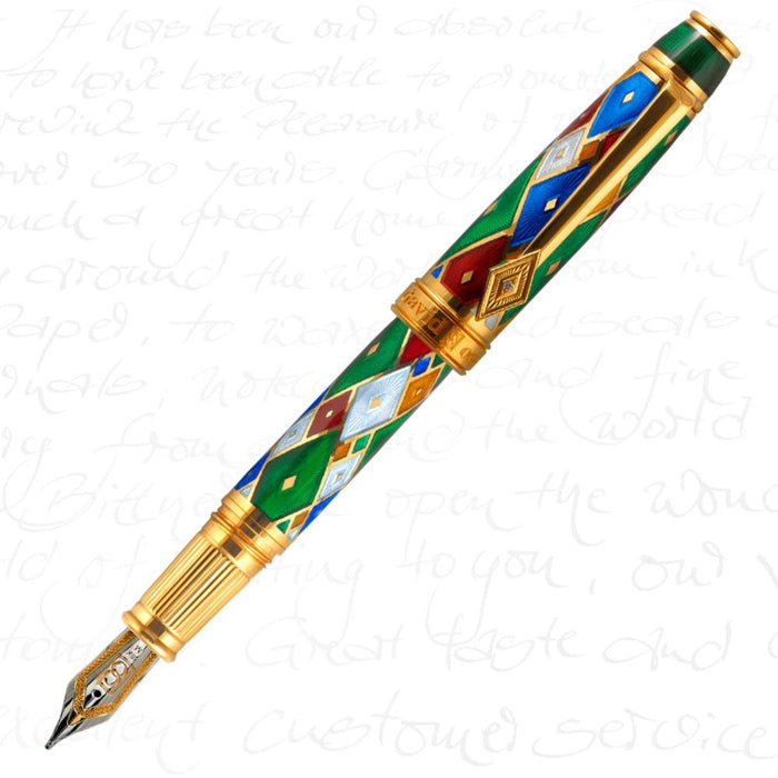 David Oscarson Harlequin Emerald Green Pen