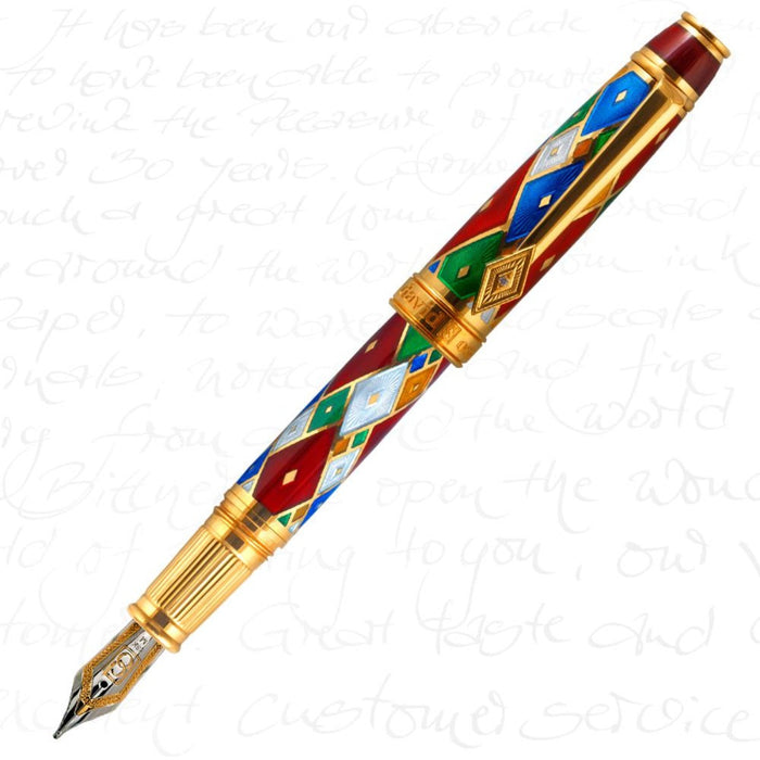 David Oscarson Harlequin Ruby Red Pen
