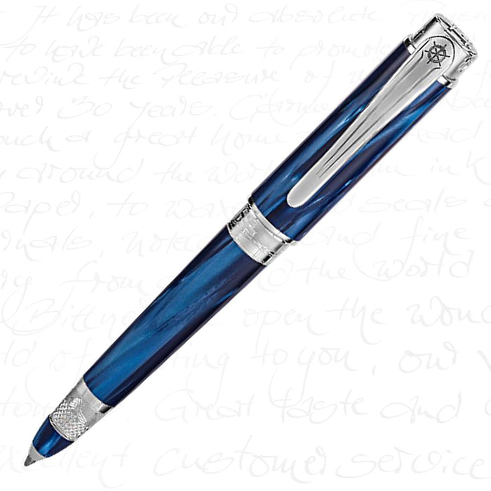 Montegrappa Limited Edition Ernest Hemingway Fisherman Silver Ballpoint Pen
