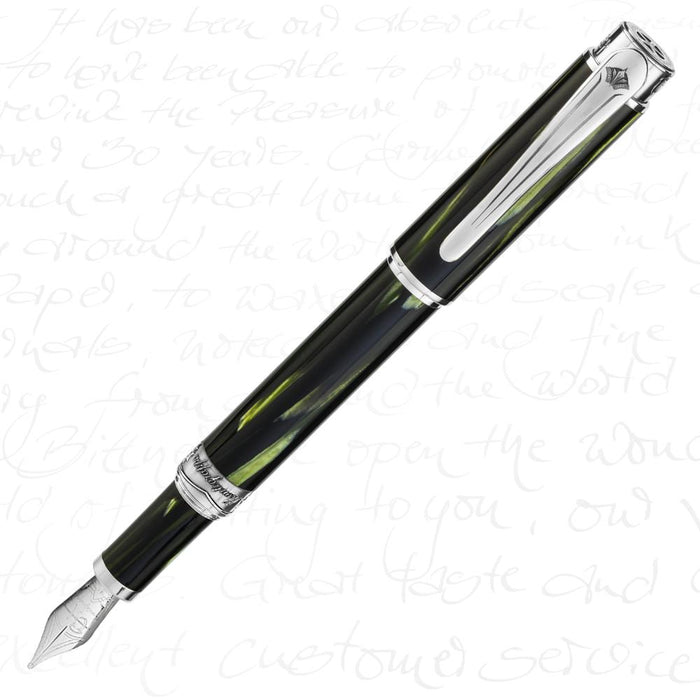 Montegrappa Limited Edition Ernest Hemingway Soldier Silver Fountain Pen