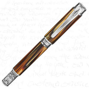 Montegrappa Limited Edition Ernest Hemingway Writer Silver Fountain Pen
