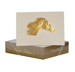 Florentine Gold Foil Stamped Horse Greeting Cards (8)