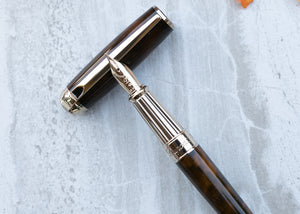 S.T. Dupont Line D Large Fountain Pen - Atelier Brown Lacquer