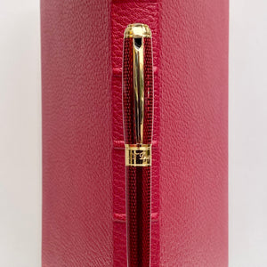 S.T. Dupont Diamond Guilloche Fountain Pen - Ruby