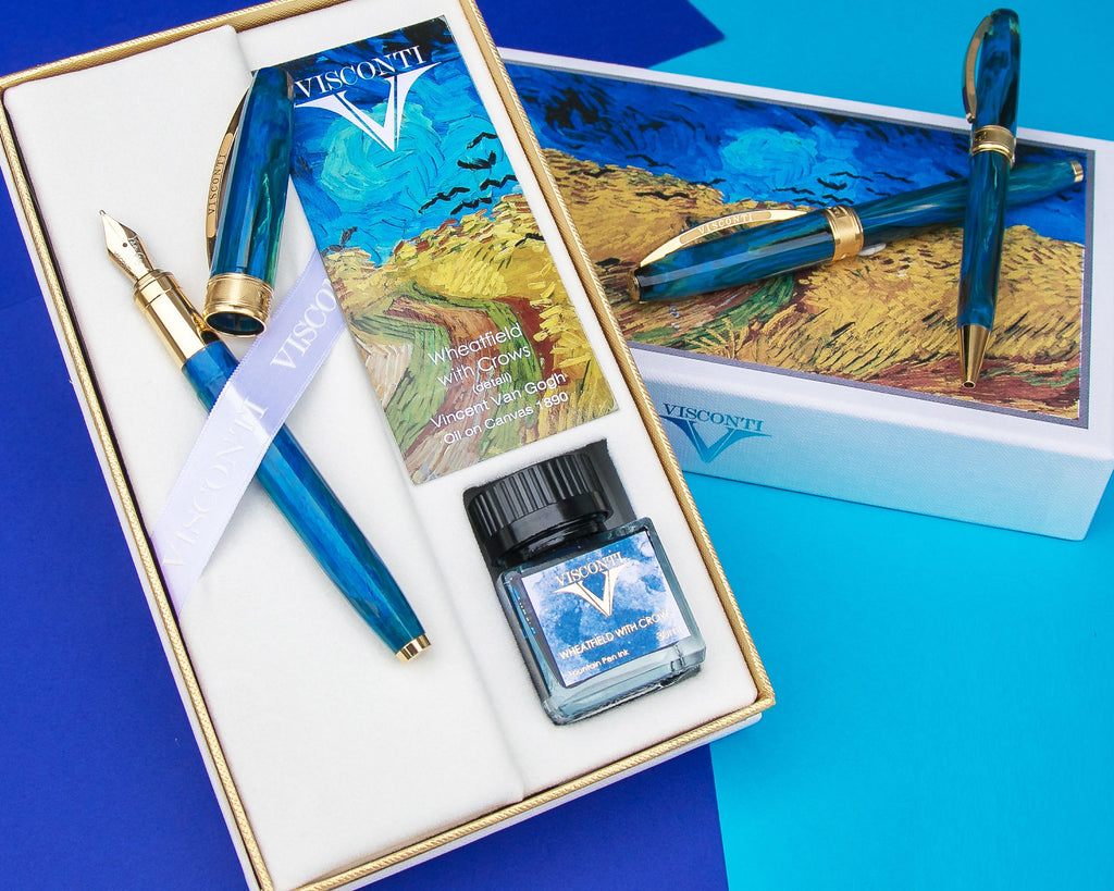 Visconti Van Gogh Fountain Pen - Wheatfield With Crows (Holiday Gift Set) (Pre-Order)