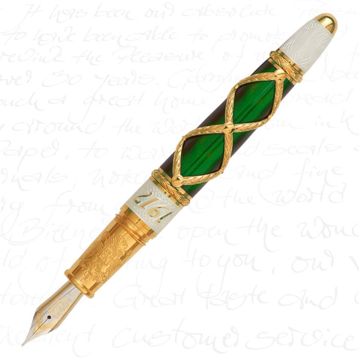 David Oscarson Russian Imperial Collection Emerald Green Pen