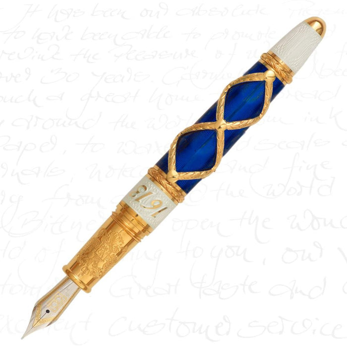 David Oscarson Russian Imperial Collection Sapphire Pen