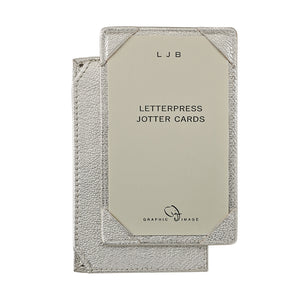 Graphic Image Metallic Leather Jotter