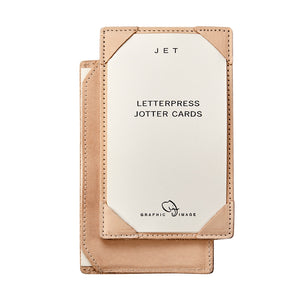 Graphic Image Natural Vachetta Leather Jotter