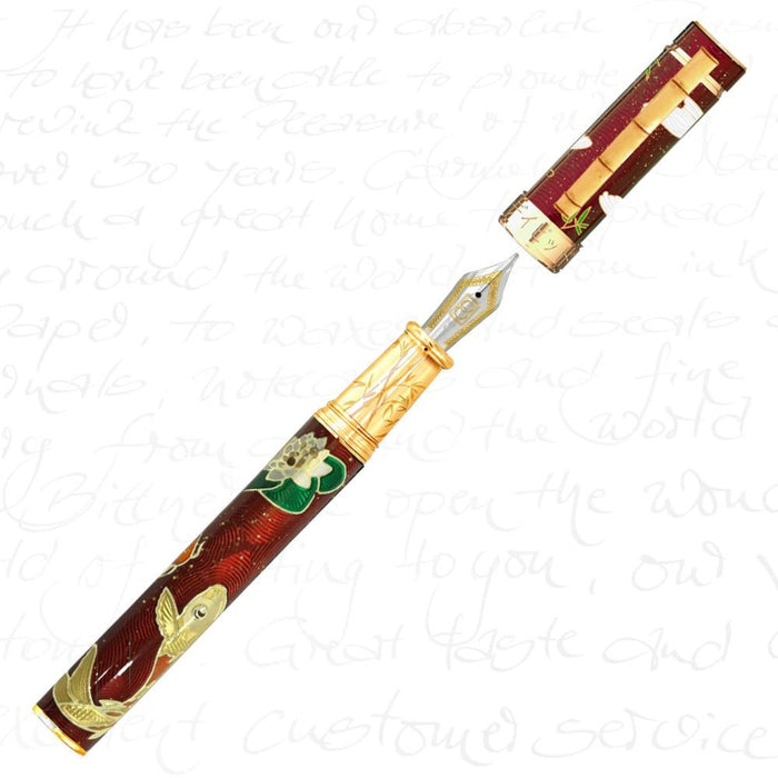 David Oscarson Koi Collection Ruby Red Pen
