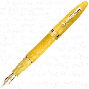 Armando Simoni Club Leonardo Furore Giallo Sole (Gold Trim) Fountain Pen
