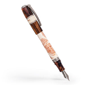 Visconti Leonardo da Vinci Machina Fountain Pen - Silver