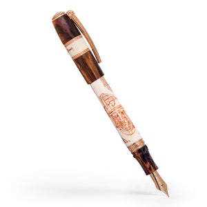 Visconti Leonardo da Vinci Machina Fountain Pen - Rose Gold