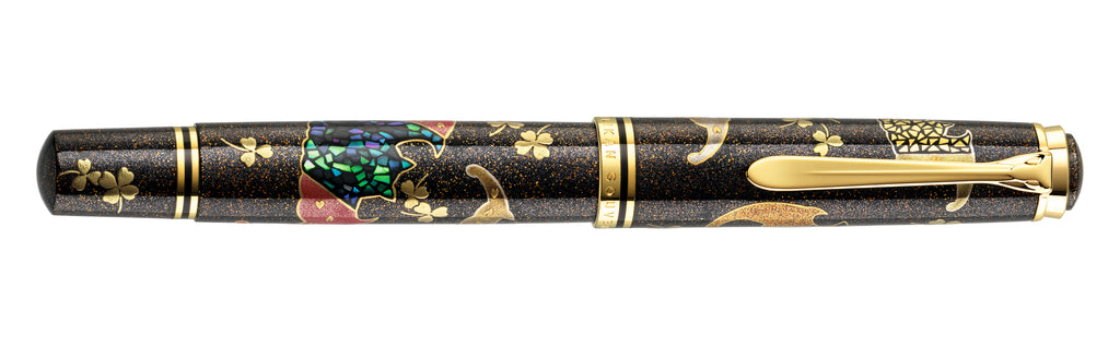 Pelikan Maki-e Five Lucky Bats Fountain Pen (Pre-Order)