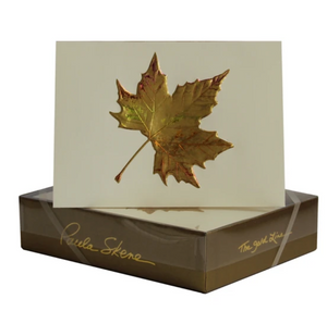 Maple Leaf Gold Foil Stamped Greeting Cards (8)