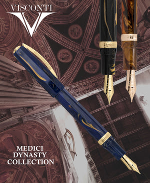 Visconti Medici Fountain Pen - Blue Imperiale