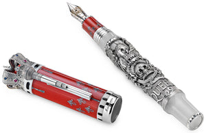 Montegrappa Queen: A Night at the Opera Fountain Pen - Silver