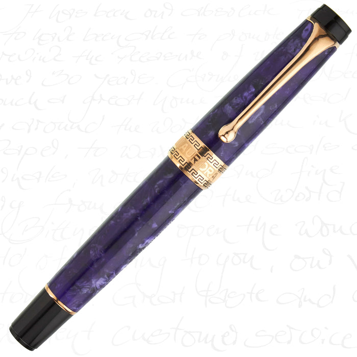 Aurora Optima Limited Edition Nebulosa Rose Gold Fountain Pen