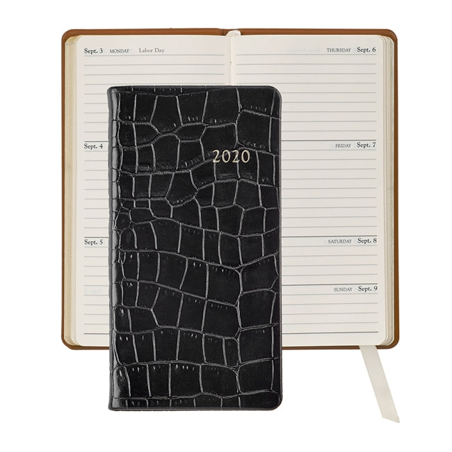 "Graphic Image 6"" Pocket Datebook - Crocodile Leather"