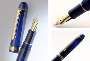 Platinum #3776 Century Fountain Pen - Chartres Blue w/ Gold Trim