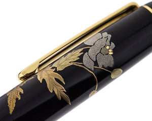 Platinum #3776 Century Urushi Maki-E Fountain Pen - Poppy