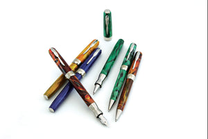 Pineider La Grande Bellezza Gemstones Rollerball Pen - Malachite Green