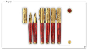 Montegrappa Ten Commandments Red / Vermeil - Fountain Pen