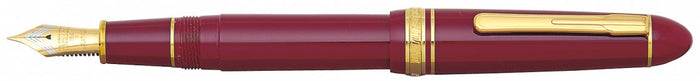 Platinum President Fountain Pen - Wine Red w/Gold Trim