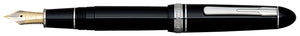 Platinum President Fountain Pen - Black w/ Rhodium Trim