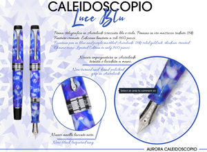 Aurora Optima Fountain Pen - Caleidoscope Luce Blu