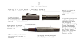 Graph Von Faber-Castell Pen of the Year 2021 Knights - Fountain Pen