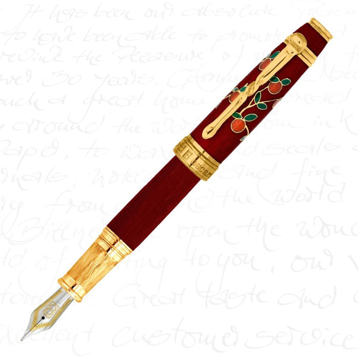 David Oscarson Tree of Life Red Pen