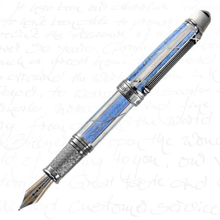 David Oscarson Trellis Azure Blue Pen