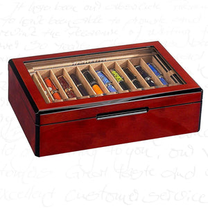 Venlo Triple Burlwood 20 Pen Case