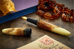 Benu Briolette Fountain Pen - Luminous Amber